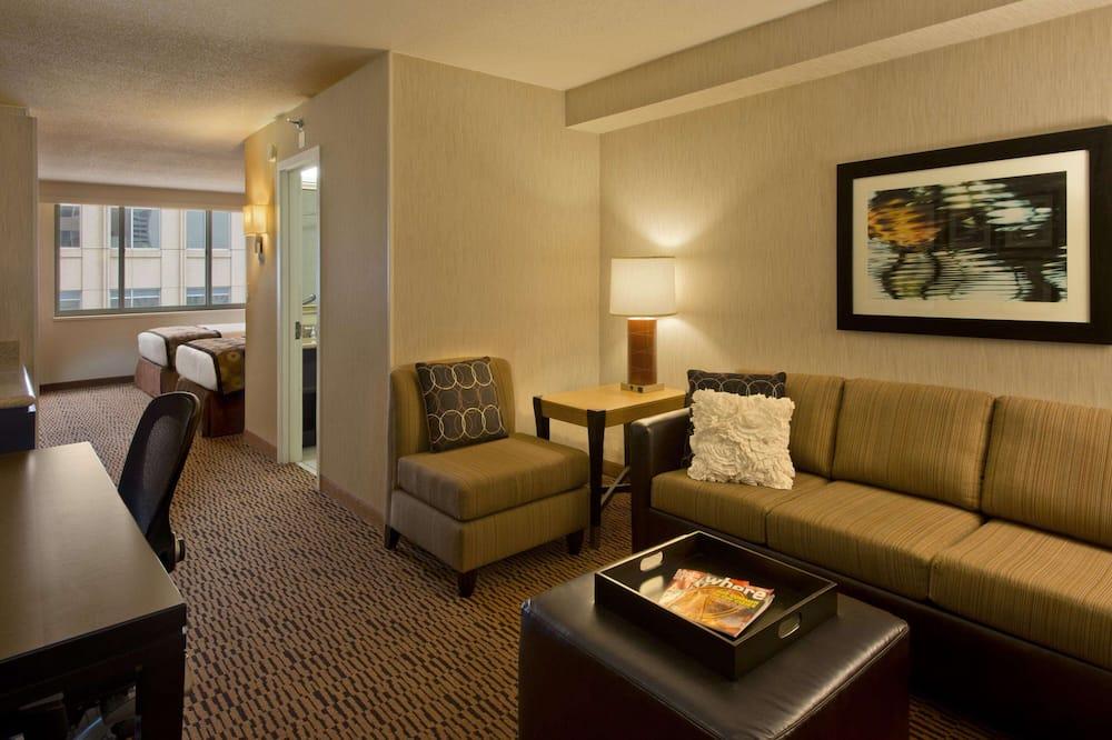 Apartmán, nefajčiarska izba (2 Double Beds) - Obývacie priestory