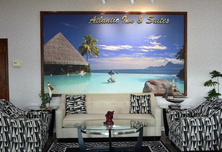 Atlantic Inn & Suites, Belmar, Zona con asientos del vestíbulo