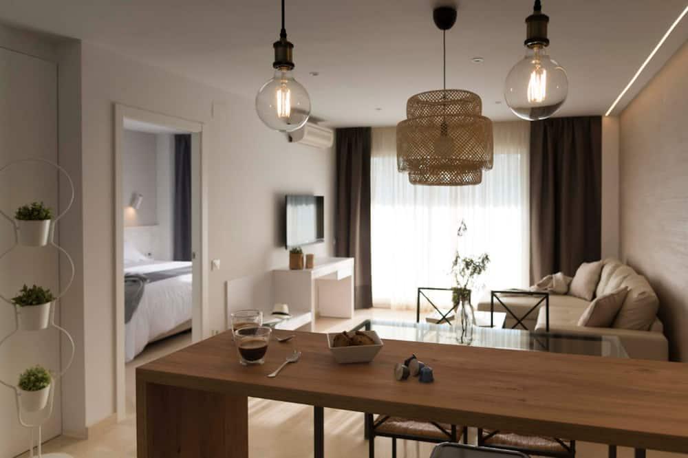 Departamento Premium, 1 habitación, vista parcial al mar - Sala de estar