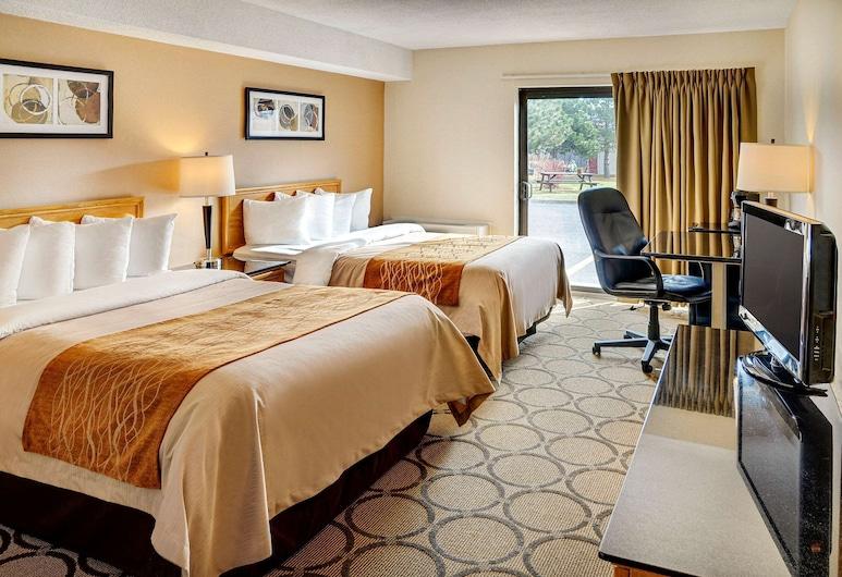 Comfort Inn South, Winnipeg, Quarto Duplo Standard, 2 camas de casal, Rés-do-chão, Quarto
