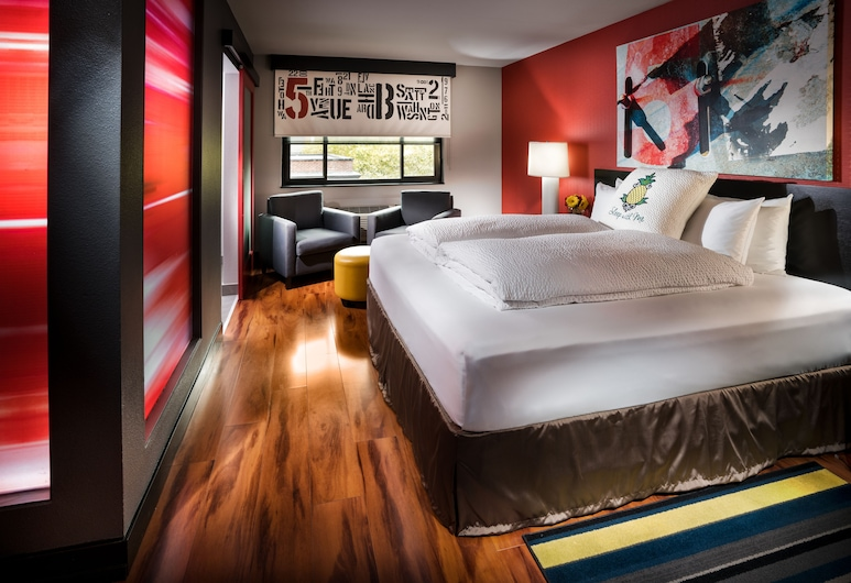 Staypineapple, Hotel FIVE, Downtown Seattle, Seattle, Suite (Urban), Guest Room