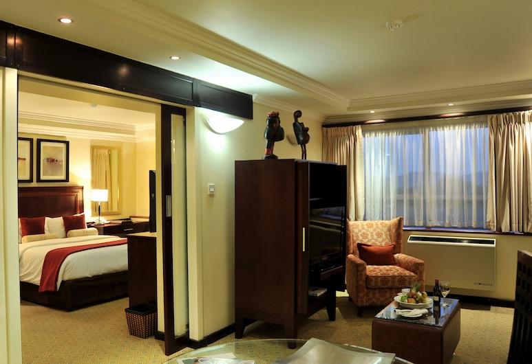 Cresta President, Gaborone, Suite, 1 cama Queen size, vista a la ciudad, Sala de estar