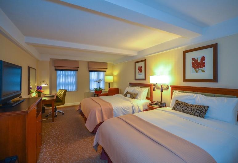 San Carlos Hotel, New York, Deluxe szoba, 2 queen (nagyméretű) franciaágy, konyharész, Vendégszoba