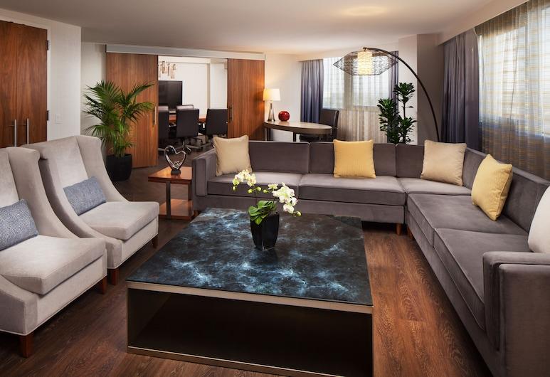 Sheraton Gateway Los Angeles Hotel, Los Angeles, Suite – president, 1 kingsize-seng, Gjesterom