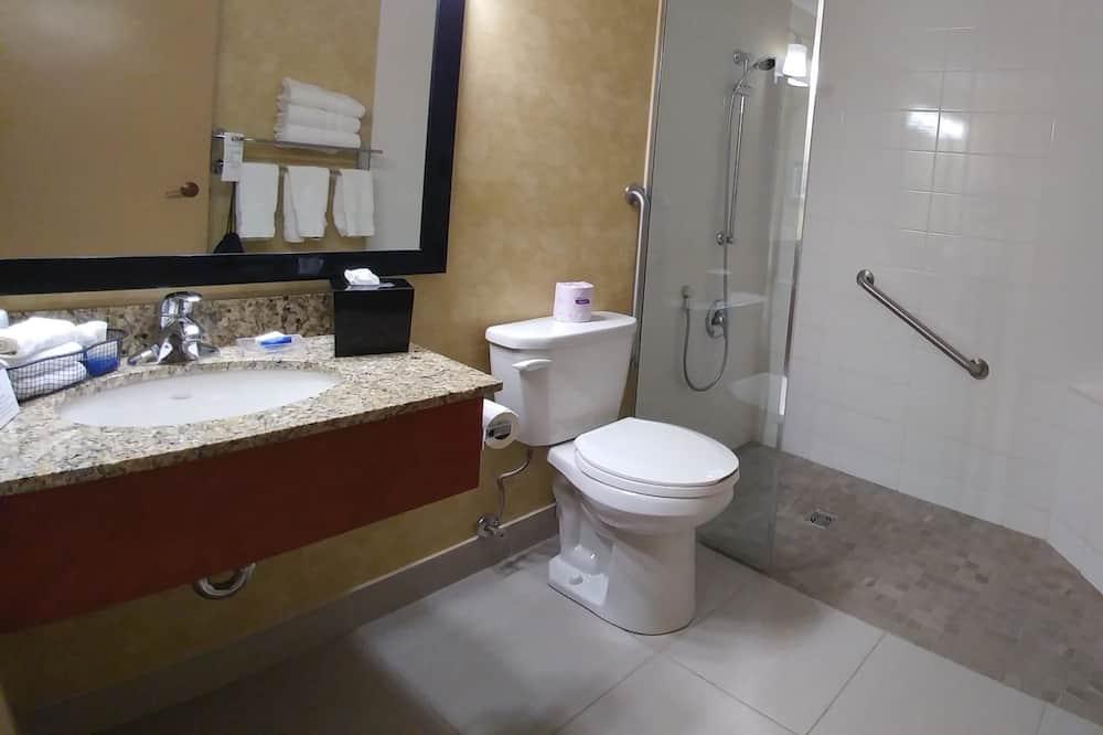 Номер-люкс, 1 ліжко «кінг-сайз», обладнано для інвалідів, для некурців - Ванна кімната