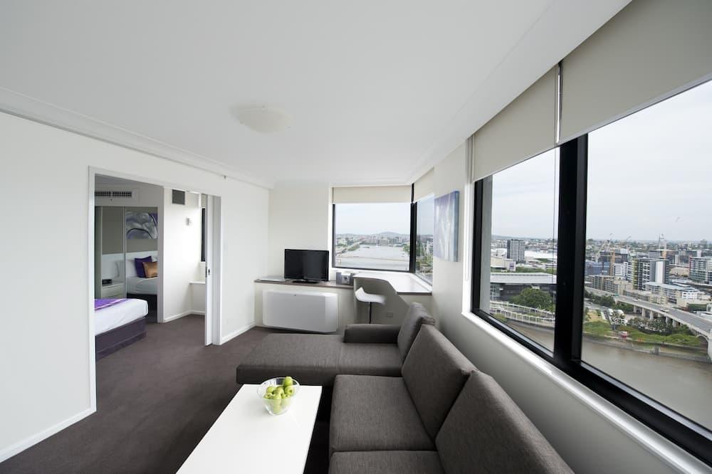 Lägenhet Superior - 1 sovrum - utsikt mot floden - Vardagsrum