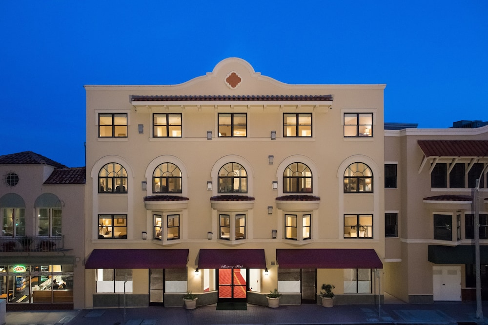 The Monterey Hotel Front Evening Night