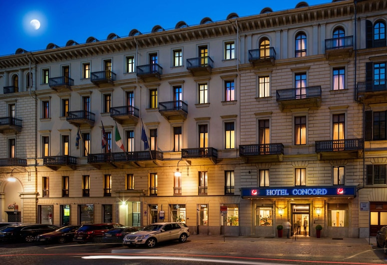 Concord Hotel, Turin, Hotel Front – Evening/Night