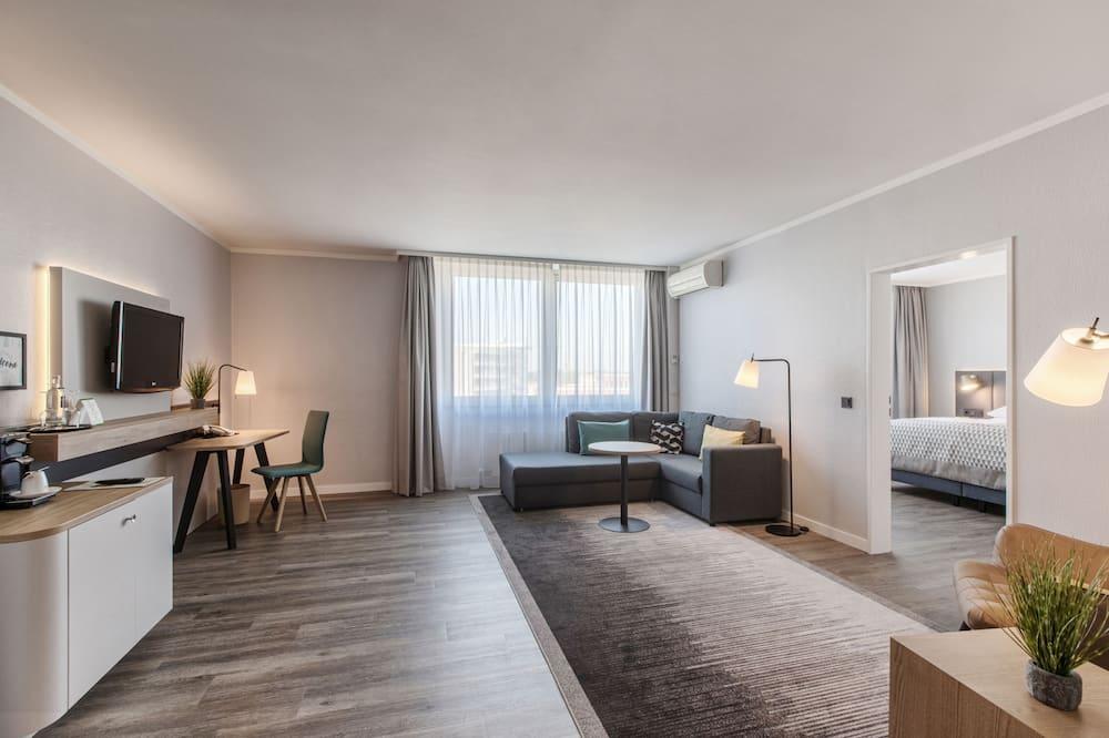 Numeris, 1 standartinė dvigulė lova, Nerūkantiesiems (w/ Living Room) - Svečių kambarys