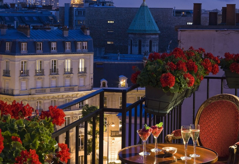 Hôtel San Régis, Paryžius, Žemesnės liukso klasės numeris (Terrasse), Balkonas
