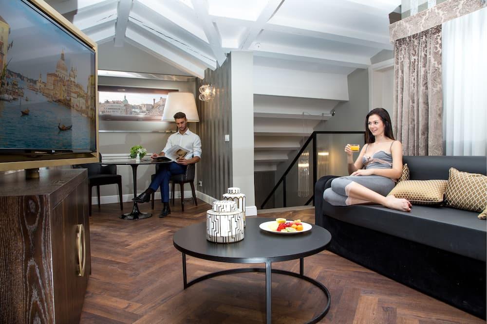 Deluxe suite, 1 queen size krevet - Dnevni boravak