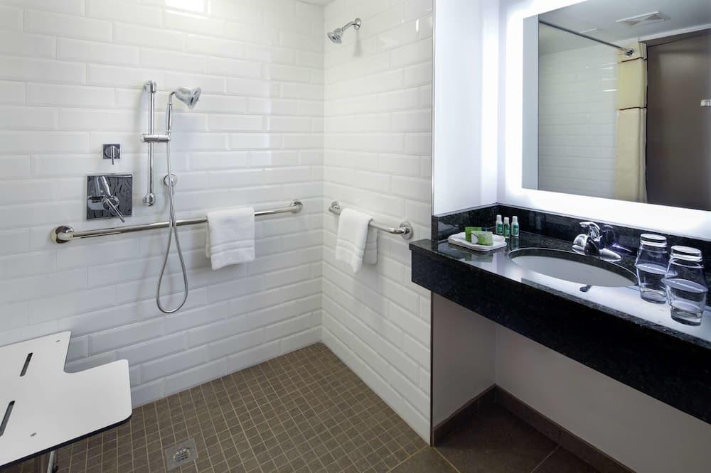 룸, 퀸사이즈침대 2개, 장애인 지원, 금연 - 욕실