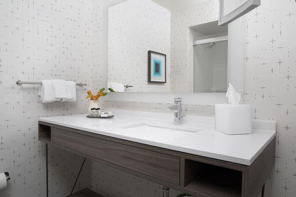 Izba typu Premium, 1 extra veľké dvojlôžko, nefajčiarska izba, rohová izba (Worklife) - Kúpeľňa