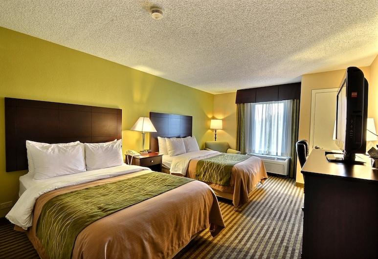 Comfort Inn & Suites Clearwater Pinellas Park, Clearwater, Standardrum - 2 dubbelsängar - icke-rökare, Gästrum