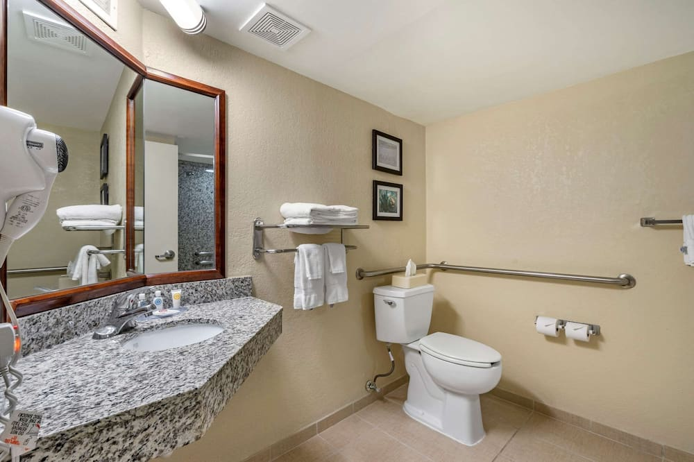Basic Room, 1 Queen Bed, Accessible, Non Smoking - Bathroom