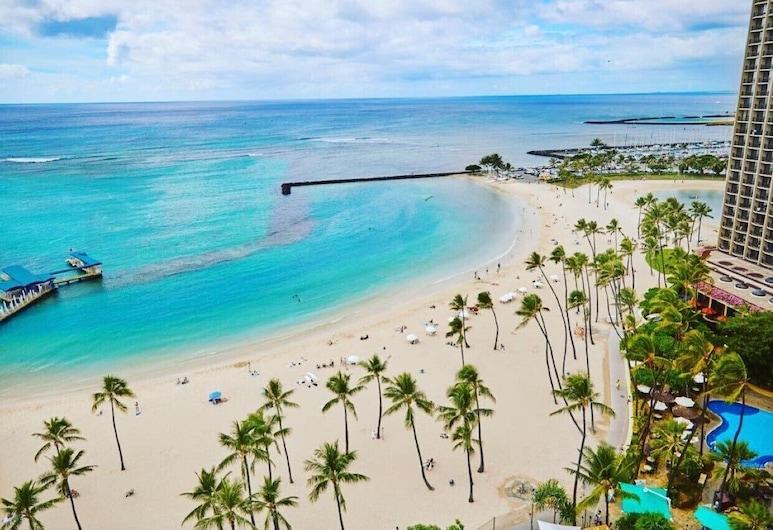 夏威夷威基基海滩希尔顿度假村, 檀香山, 客房, 2 张双人床, 海滨 (Alii), 客房