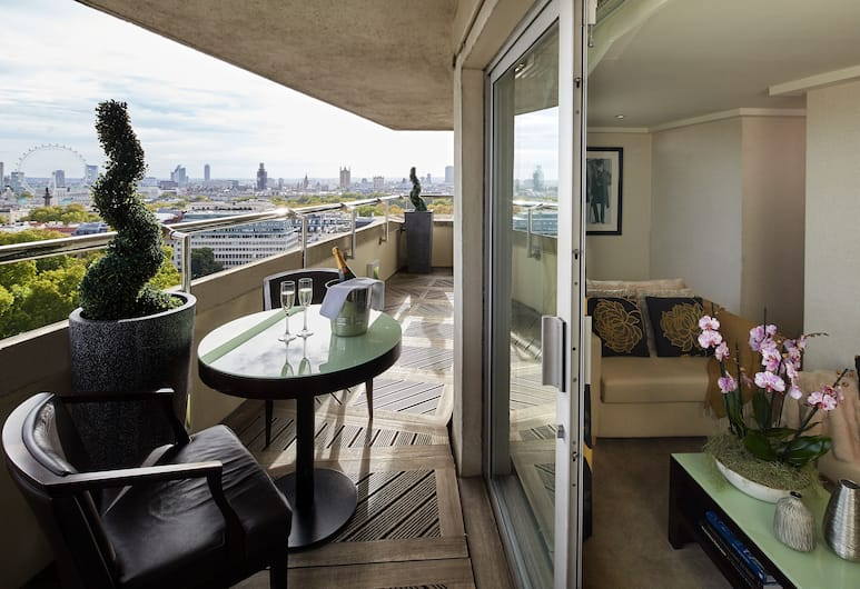 The Cavendish London, London, Penthouse, Blick vom Balkon