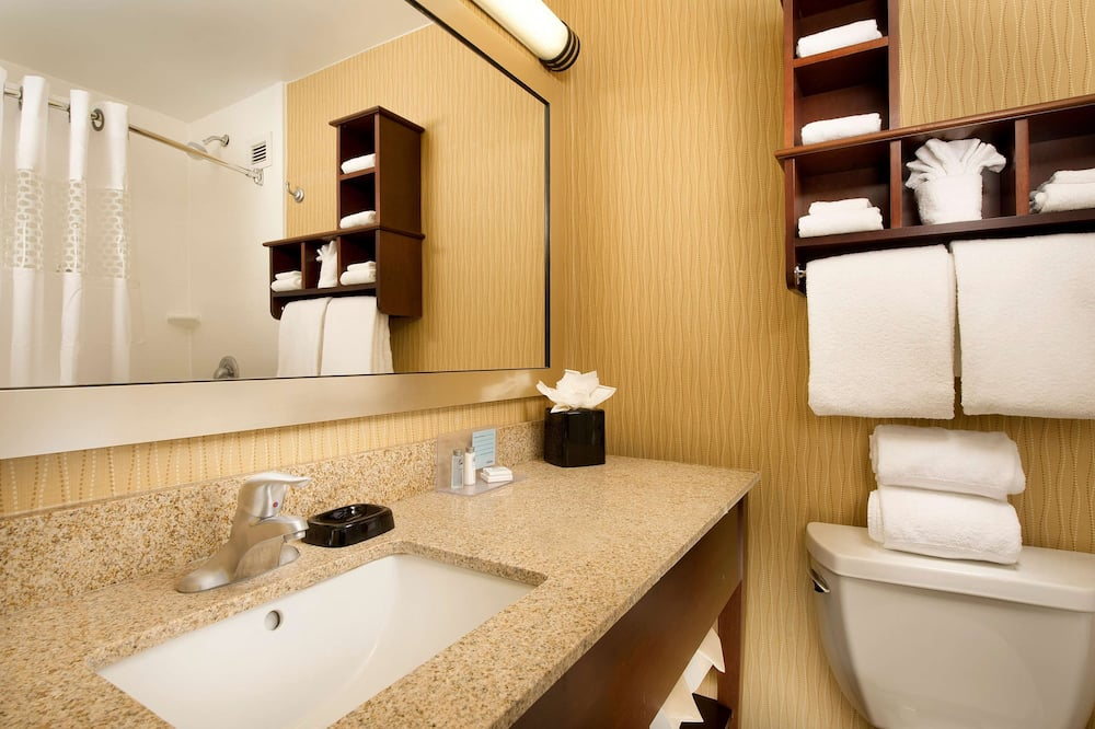 Room, 1 King Bed with Sofa bed, Non Smoking, Refrigerator - Bathroom
