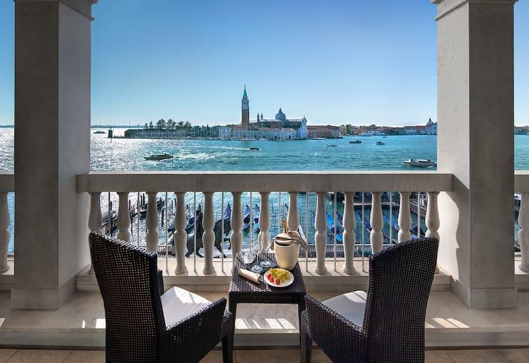 Hotel Londra Palace, Venedig, Studiosvit Junior - terrass - utsikt mot lagunen, Utsikt från gästrum