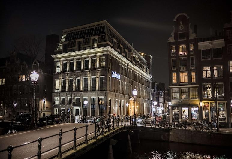 Radisson Blu Hotel, Amsterdam City Center, Amsterdam, Hótelframhlið - að kvöld-/næturlagi