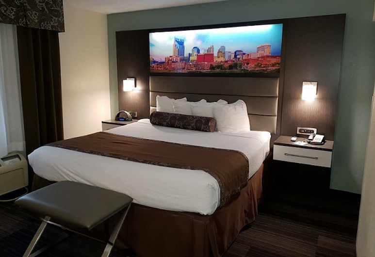 Club - Hotel Nashville Inn & Suites, Nashville, Executive Suite, 1 King Bed with Sofa bed, Guest Room