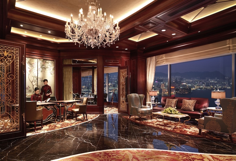 아일랜드 샹그릴라, 홍콩, Horizon, 룸, 더블침대 1개, 항구 전망, 이그제큐티브 라운지