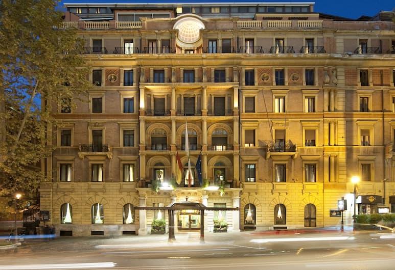 安班希亞托利宮酒店, 羅馬, 經典雙人房單人入住, 酒店入口 - 夜景