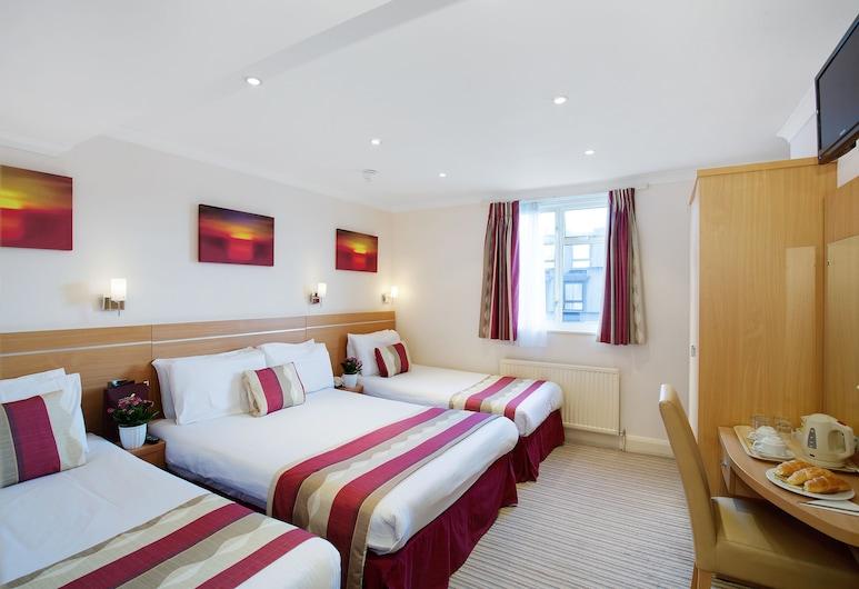 Queens Park Hotel, Londen, Familiekamer, en-suite badkamer, Kamer
