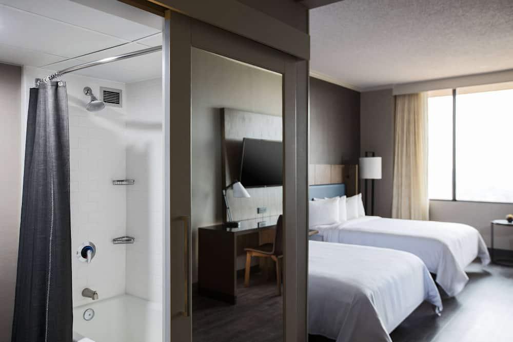 高級客房, 2 張加大雙人床 - 浴室