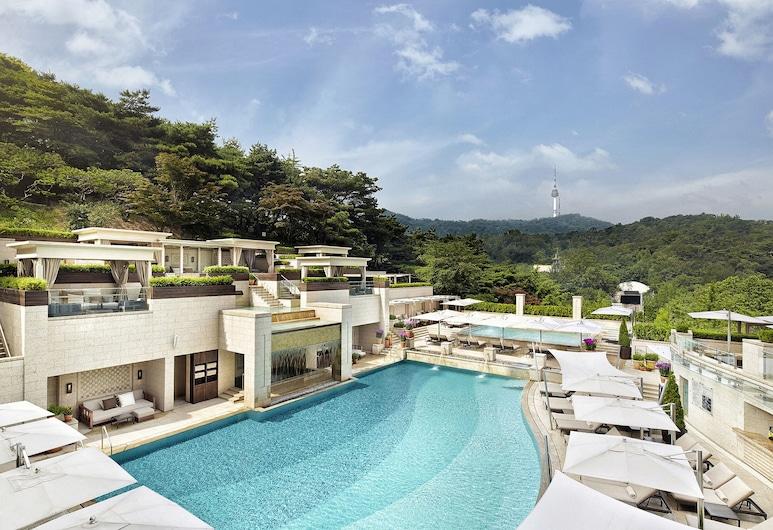 首爾新羅酒店, Seoul, 行政豪华商务大床房(可用室外泳池), 客房