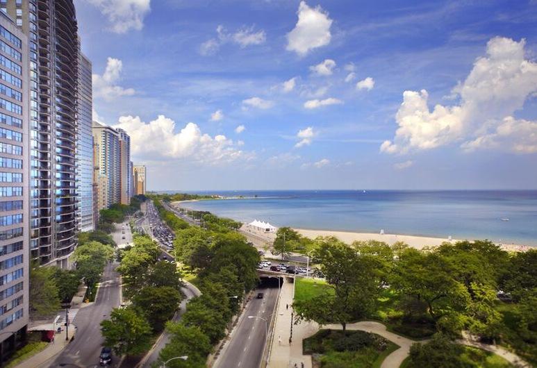 The Drake, Chicago, 1 kingsize-seng, Utsikt mot innsjø, Hotellet innvendig