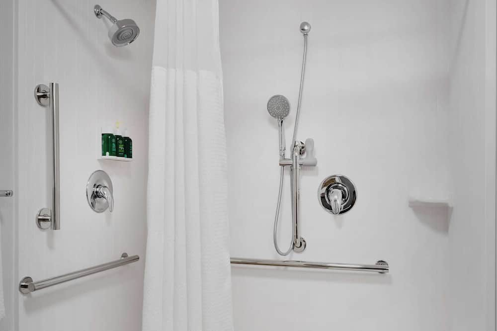 Room, 2 Double Beds, Accessible (Mobility Roll in Shower) - Bathroom