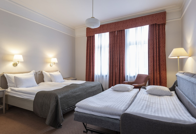 Hotel Terminus Stockholm, Stockholm, Tomannsrom – superior, Oppholdsområde
