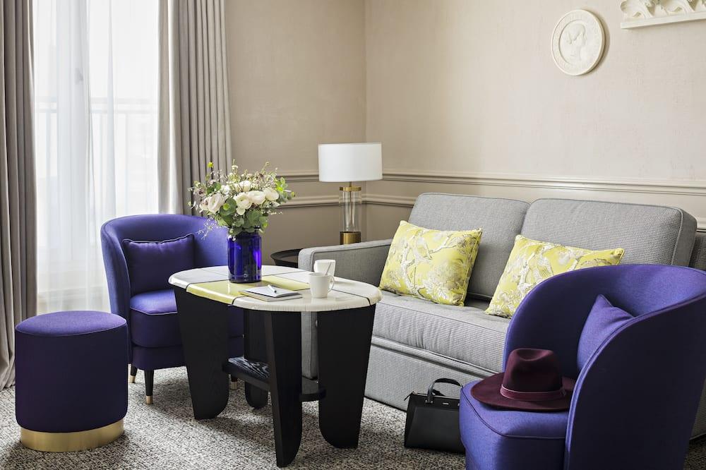 Apartament typu Suite, Łóżko king i sofa, Widok (Prestige) - Powierzchnia mieszkalna