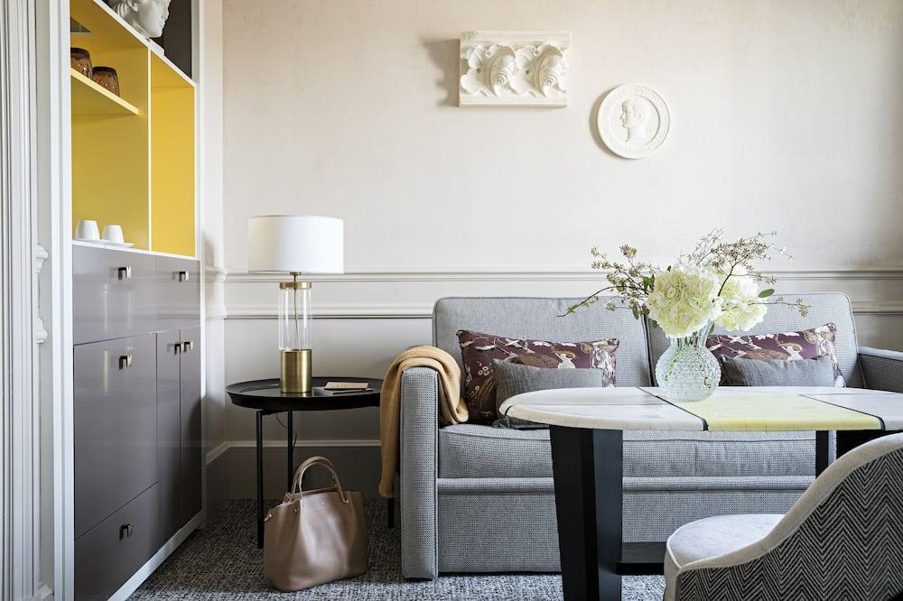 Apartament typu Junior Suite, Łóżko king, Widok (Premium, New Design) - Powierzchnia mieszkalna