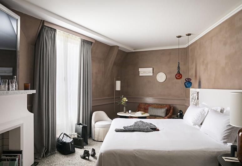 Sofitel Le Scribe Paris Opéra, Parijs, Premium kamer, 1 queensize bed, uitzicht (Premium, New Design), Kamer