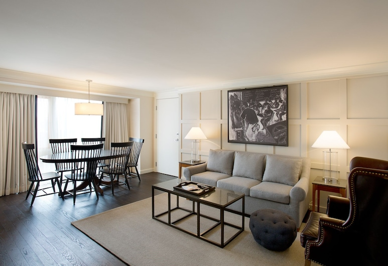 The Charles Hotel, Cambridge, Suite, 1 King Bed (Chancellors), Living Area