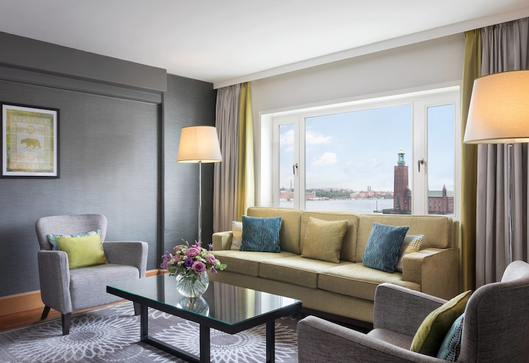 Sheraton Stockholm Hotel, Stockholm, Apartmá s ložnicí a obývacím koutem, 1 ložnice, nekuřácký, výhled, Pokoj