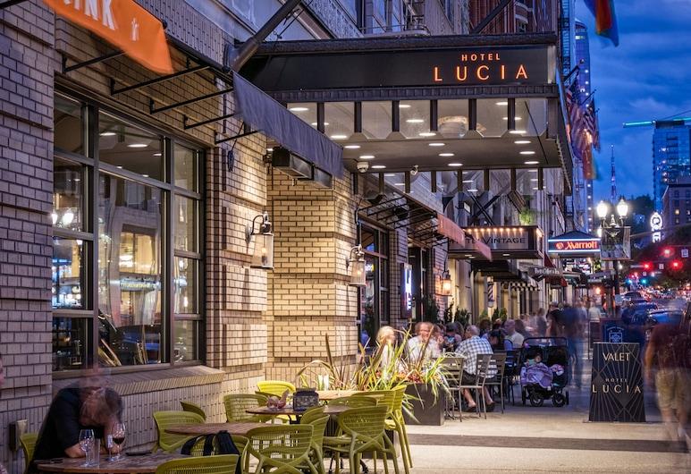 Hotel Lucia, Portland, Hotel Front – Evening/Night
