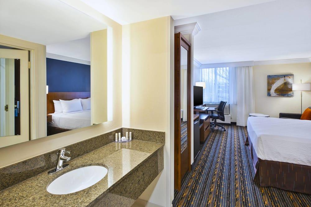 ห้องพัก, เตียงใหญ่ 2 เตียง, ปลอดบุหรี่ - ห้องน้ำ