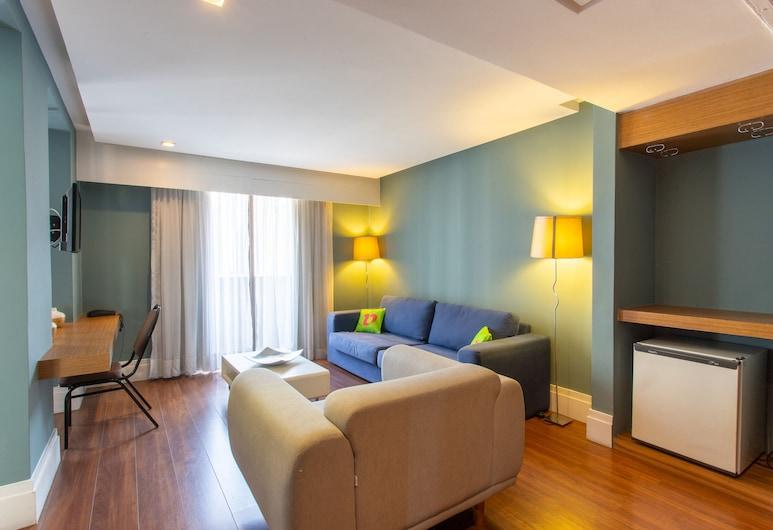 Braston Voa Business Hotel, Sao Paulo, Suite, Living Area