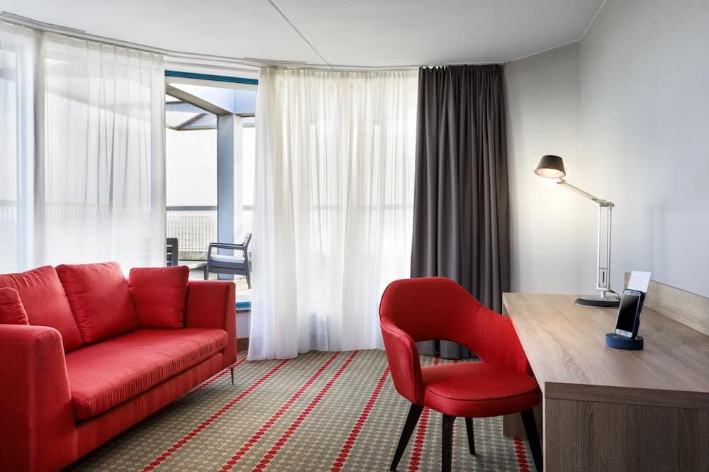 Suite superior, 1 cama de matrimonio grande, no fumadores - Zona de estar