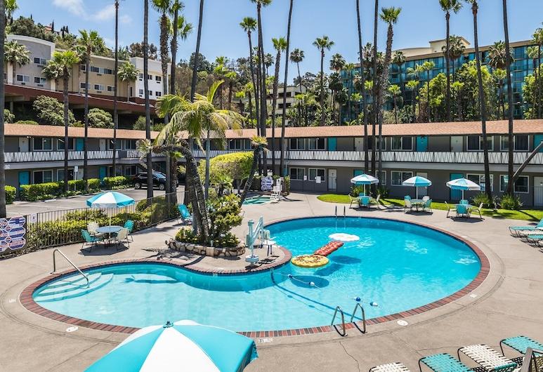 海洋世界動物園聖地牙哥諸王飯店, 聖地牙哥, Court King Poolside Bedroom, 室外游泳池