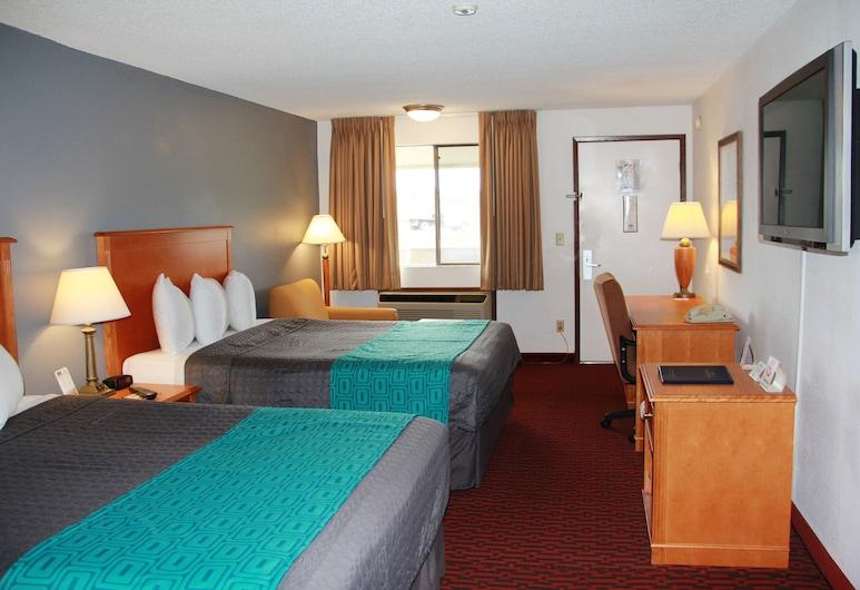 Econo Lodge Kent, קנט, חדר סטנדרט, 2 מיטות קווין, חדר אורחים
