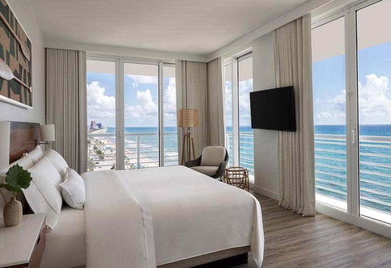 The Westin Fort Lauderdale Beach Resort, Fort Lauderdale, Suite - 1 kingsize-seng - havudsigt - hjørneværelse, Værelse