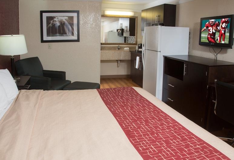 Red Roof Inn Ardmore, Ardmore, Suite, 1 kingsize-seng, røyk, tekjøkken, Gjesterom