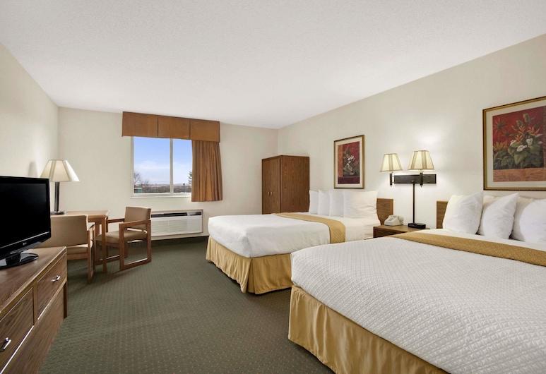 Days Inn by Wyndham Rapid City, רפיד סיטי, חדר סטנדרט, 2 מיטות קווין, חדר אורחים