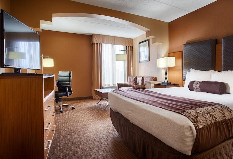 เบสท์เวสเทิร์นพลัส วินด์เซอร์สวีทส์, กรีนส์โบโร, ห้องสวีท, เตียงคิงไซส์ 1 เตียง, พร้อมสิ่งอำนวยความสะดวกสำหรับผู้พิการ, อ่างอาบน้ำ, ห้องพัก