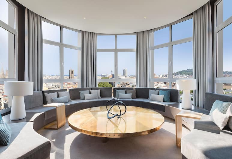 Le Meridien Barcelona, Barcelona, Panoramic Suite, 1 Bedroom (Penthouse Suite, 1 King), Guest Room