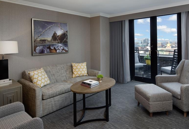 Hyatt Regency Boston, Boston, Executive Room, Terrace, Living Area